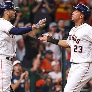 Carlos Correa Michael Brantley Houston Astros MLB