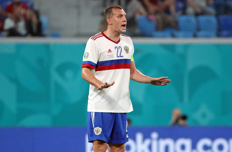 Artem Dzyuba Russia national team soccer Euros