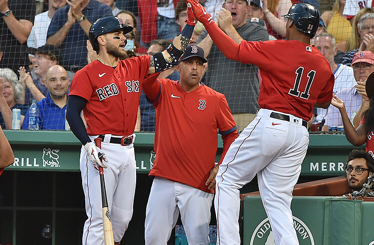 Michael Chavis Rafael Devers Alex Cora Boston Red Sox MLB