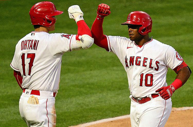 Shohei Ohtani Justin Upton Los Angeles Angels MLB