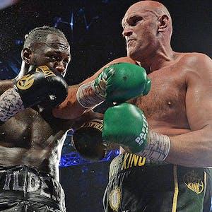 Boxers Deontay Wilder Tyson Fury