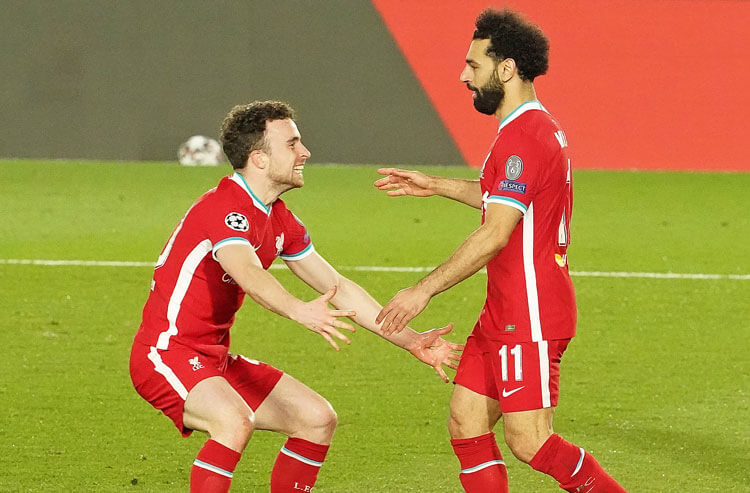Diogo Jota Mohamed Salah Liverpool FC English Premier League