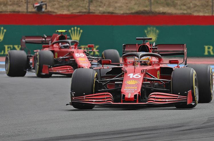 Charles Leclerc Carlos Sainz Ferrari Formula 1