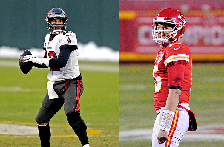 Patrick Mahomes Tom Brady NFL