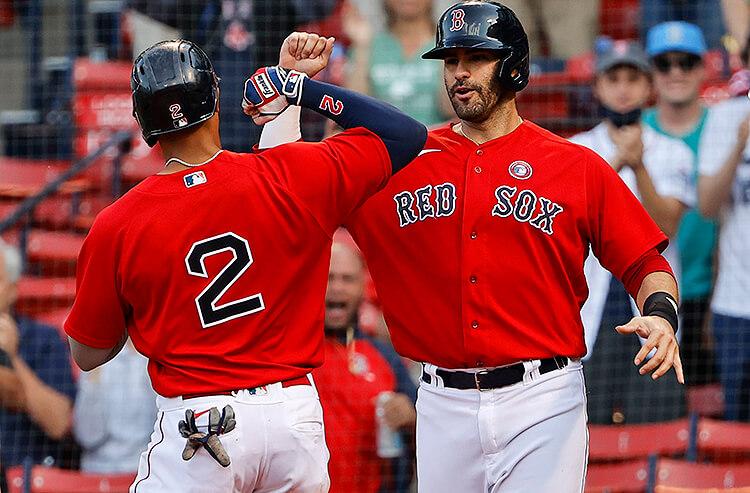 J.D. Martinez Xander Bogaerts Boston Red Sox MLB