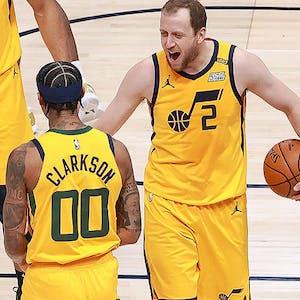 Jordan Clarkson Joe Ingles Utah Jazz NBA
