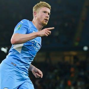 Kevin De Bruyne Manchester City EPL title odds