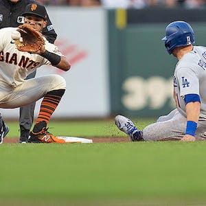 A.J. Pollock Los Angeles Dodgers Thairo Estrada San Francisco Giants MLB