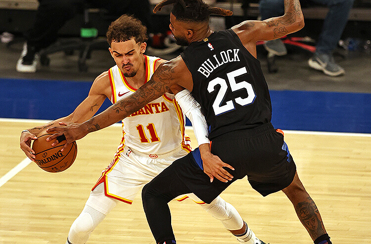 Trae Young Atlanta Hawks Reggie Bullock New York Knicks NBA Playoffs