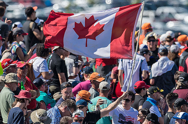 Canadian flag sporting event