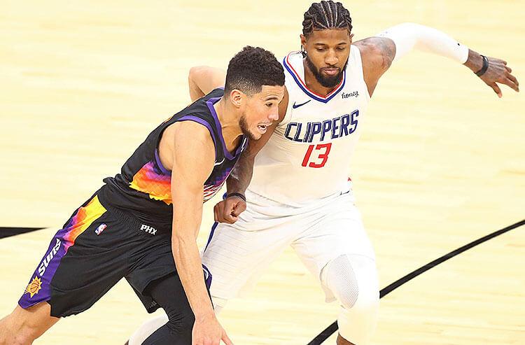 Devin Booker Phoenix Suns Paul George Los Angeles Clippers NBA