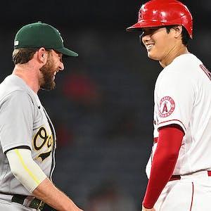 Shohei Ohtani Los Angeles Angels Jed Lowrie Oakland A's MLB