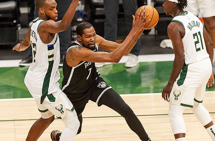 Khris Middleton Milwaukee Bucks Kevin Durant Brooklyn Nets NBA