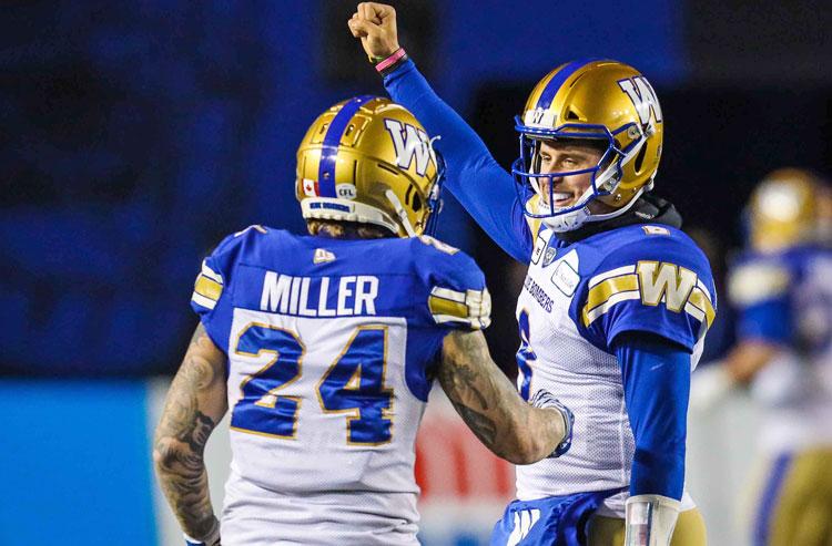 Zach Collaros Winnipeg Blue Bombers CFL