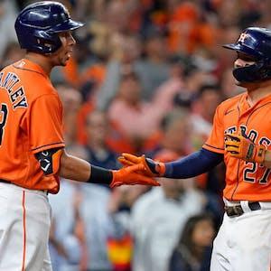 Michael Brantley Jose Altuve Houston Astros MLB
