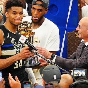 Giannis Antetokounmpo Milwaukee Bucks NBA Finals MVP