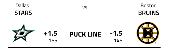 Puck line odds in NHL betting