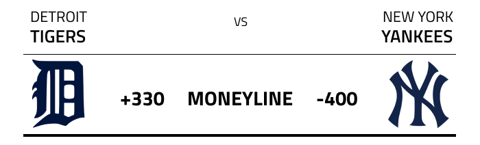 An example of MLB moneyline odds