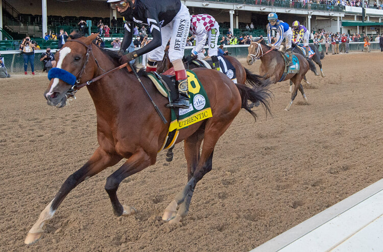 Race horse Authentic wins the Kentucky Derby