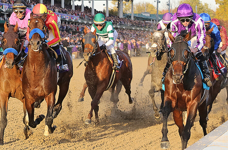 Horses race in the 35th Breeders Cup Classic